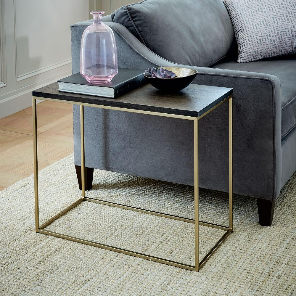 Sofa side table with drawer image collections table decoration ideas streamline narrow side table west elm uk streamline narrow side table streamline narrow side table watchthetrailerfo sofa side table watchthetrailerfo
