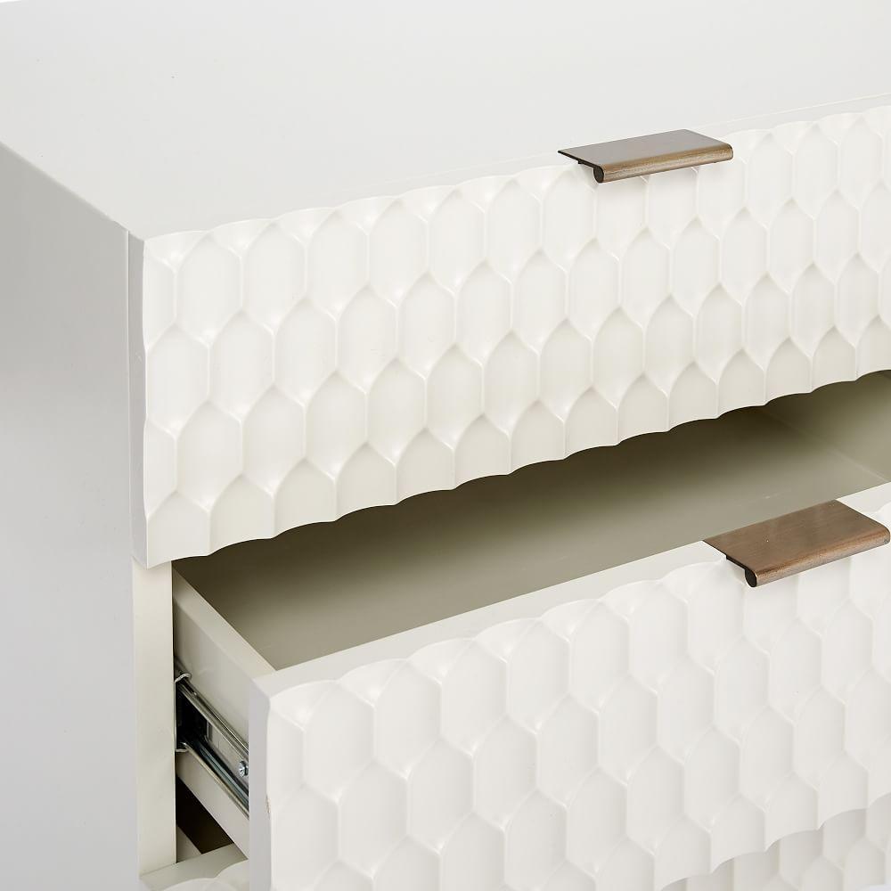 Audrey Media Console (202.5 cm) - Parchment