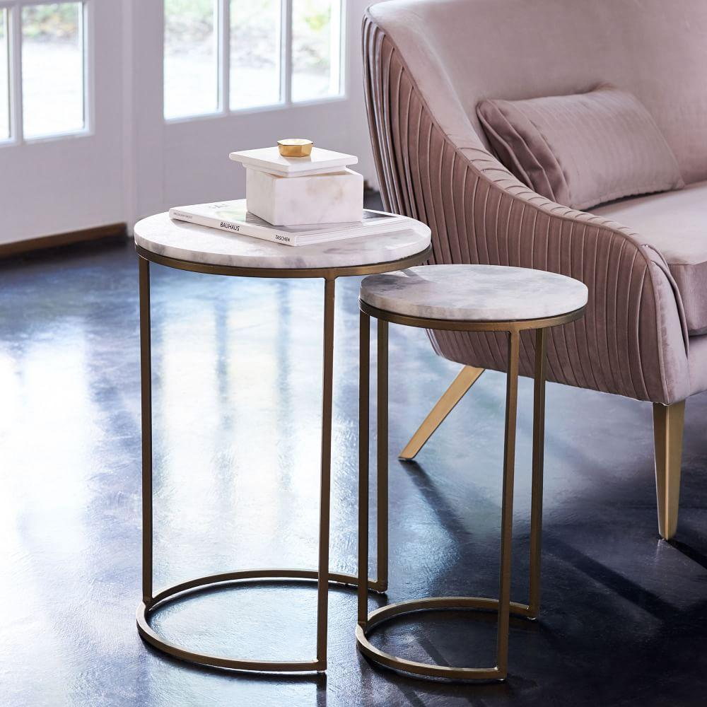 Round Nesting Side Tables Set