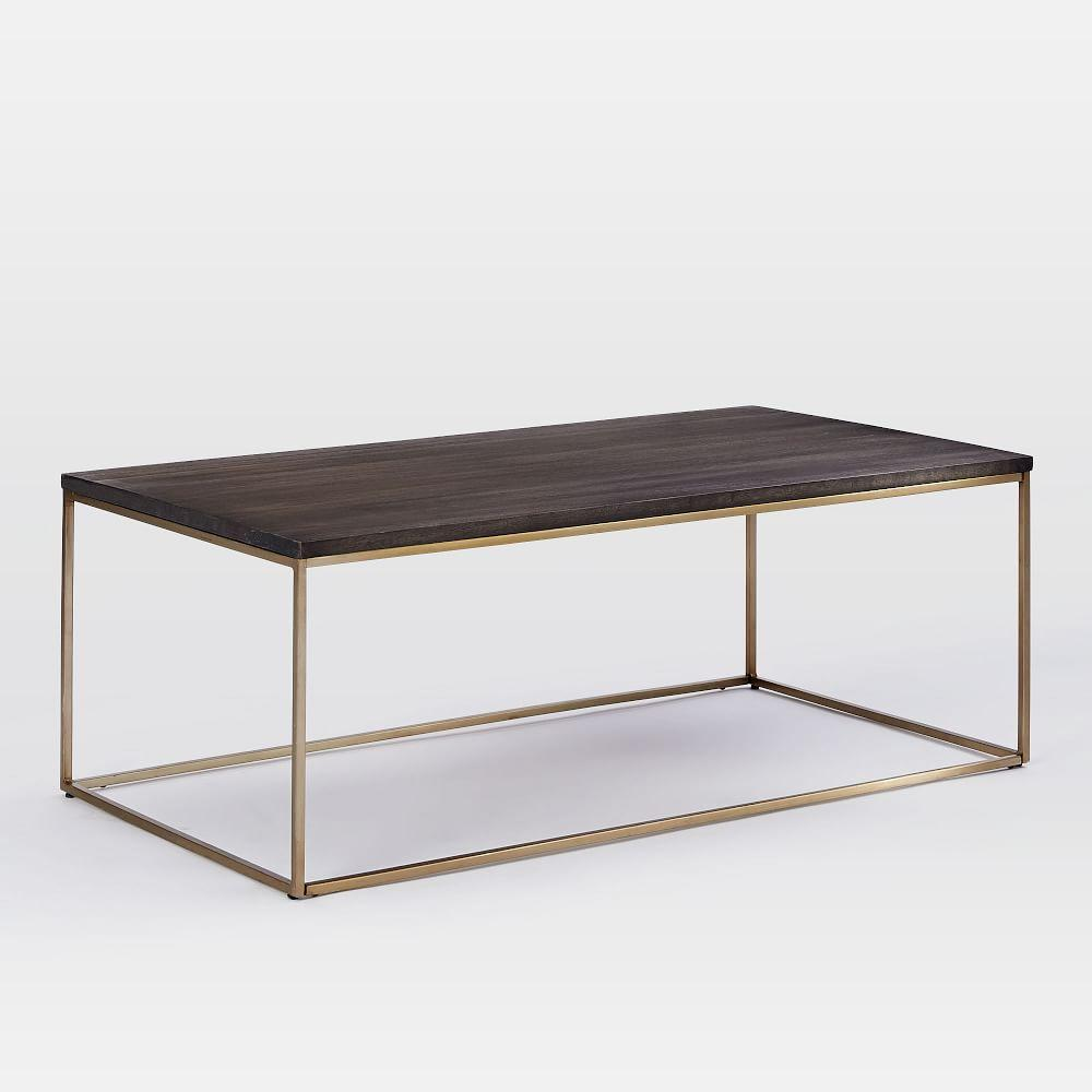 Brass Display Coffee Table: Streamline Coffee Table - Umber