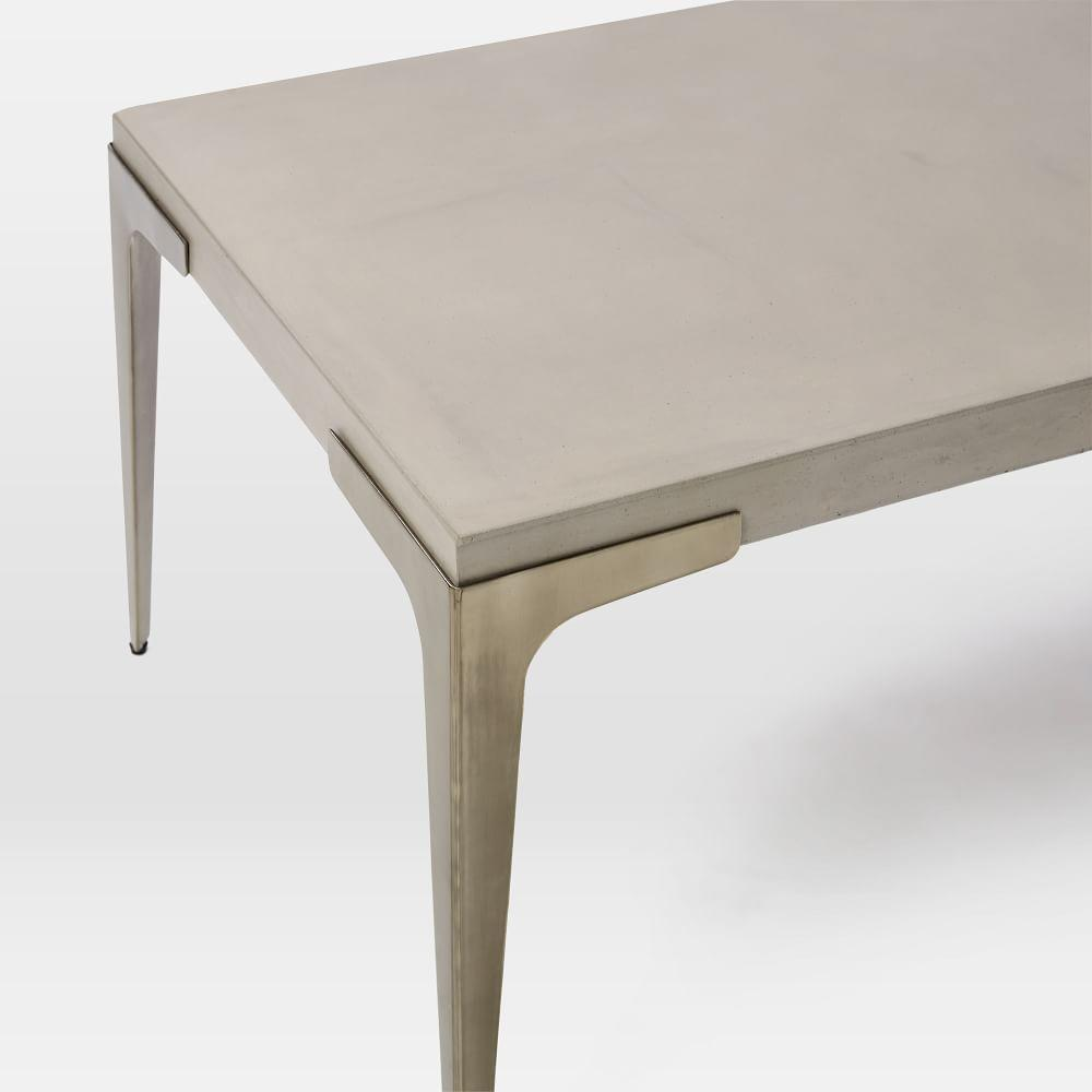 Brass concrete coffee table west elm uk for West elm c table