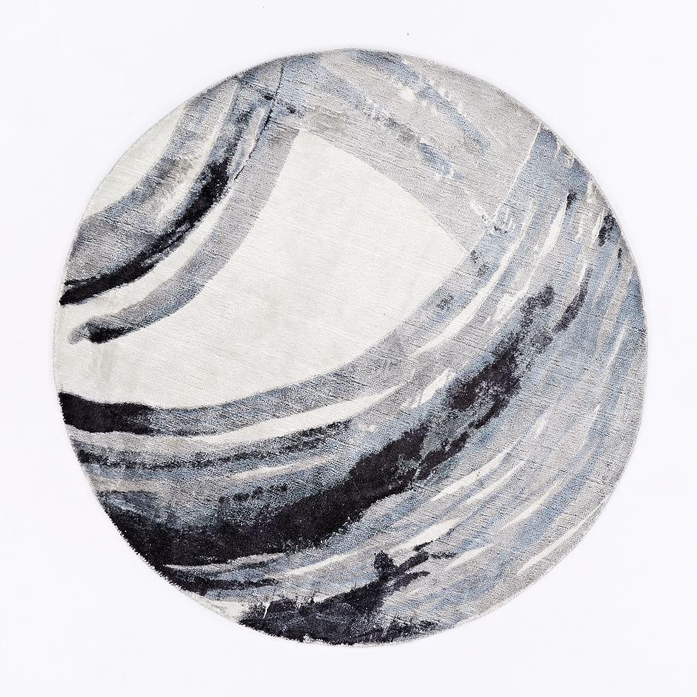 Ink Round Rug