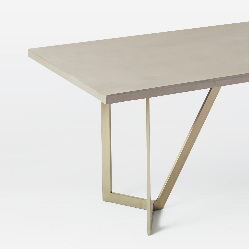 Tower Dining Table Concrete West Elm Uk