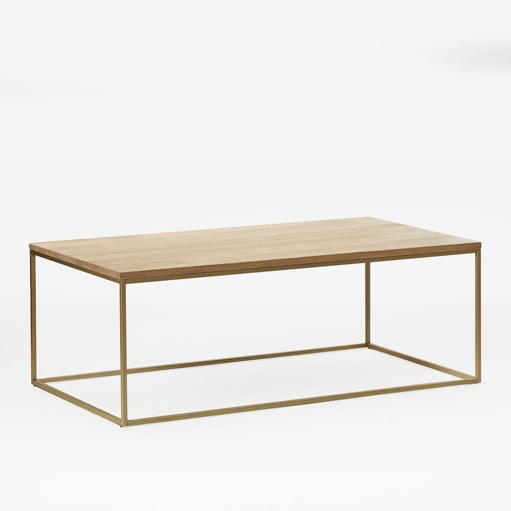 Streamline coffee table whitewashedlight bronze west elm uk streamline coffee table whitewashedlight bronze geotapseo Images