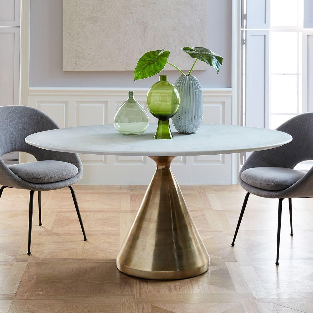 Silhouette dining table oval