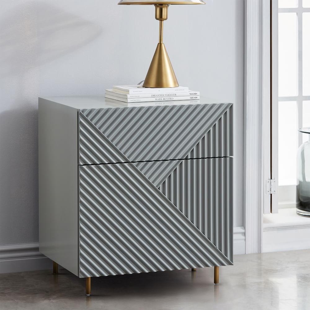 rosanna ceravolo bedside table mist grey west elm uk. Black Bedroom Furniture Sets. Home Design Ideas