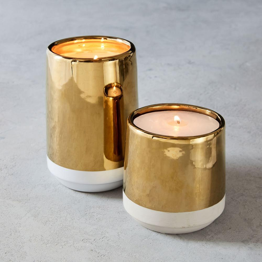 Cement + Metal Candle