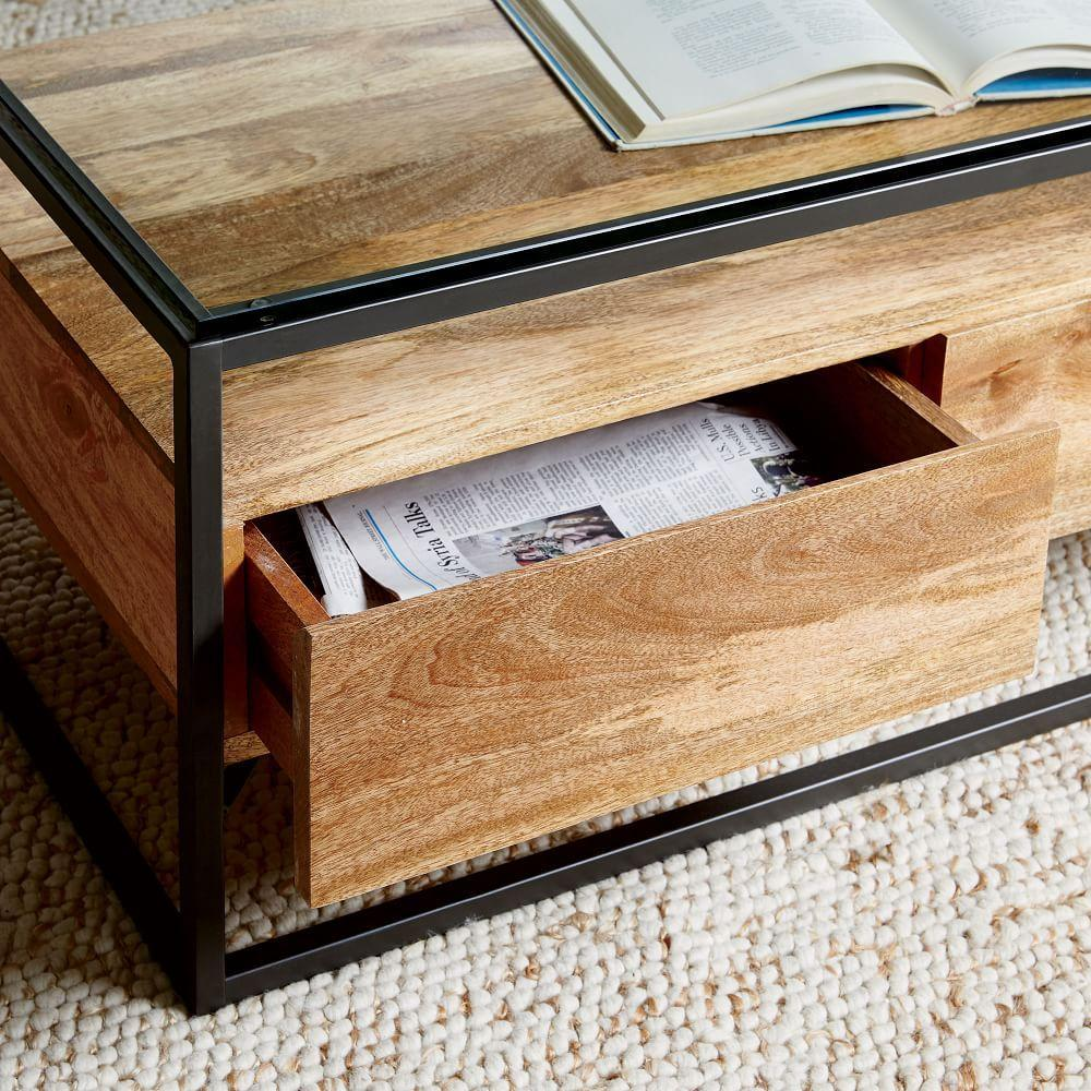 Box Frame Storage Coffee Table