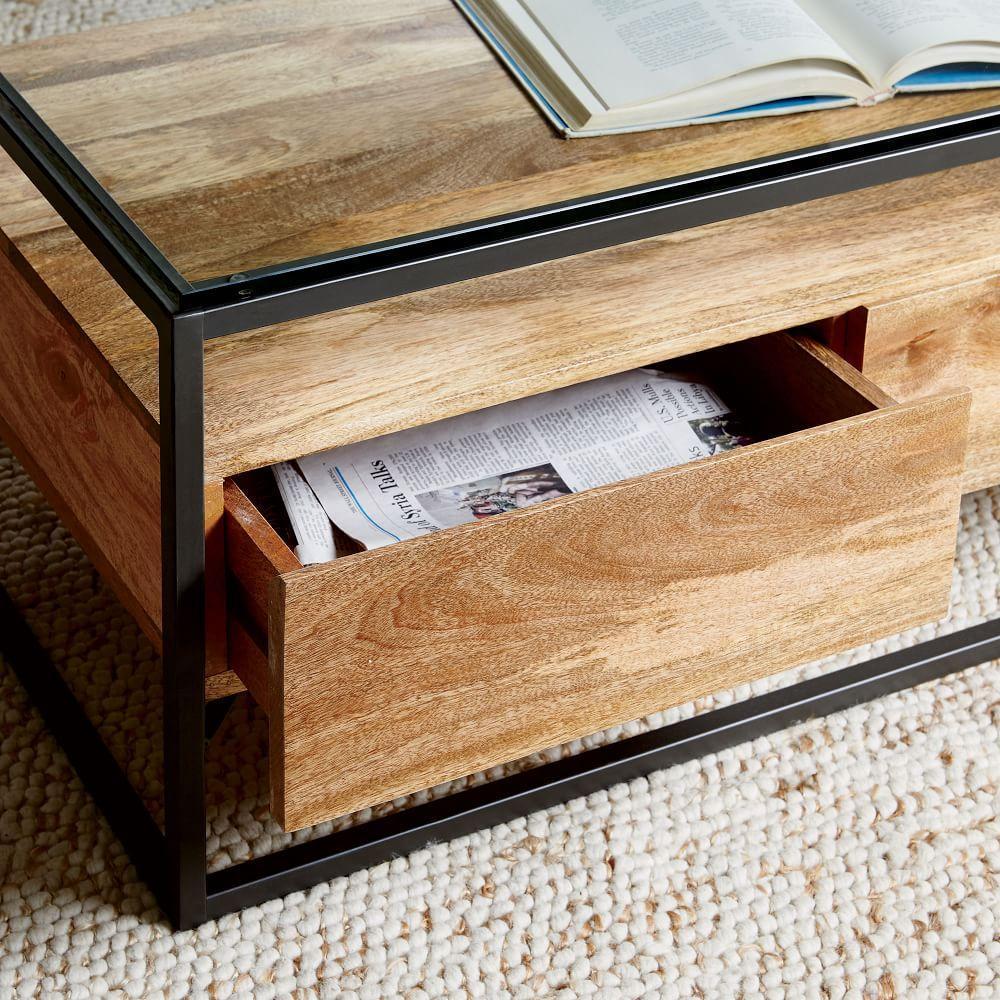 Box Frame Storage Coffee Table West Elm Uk
