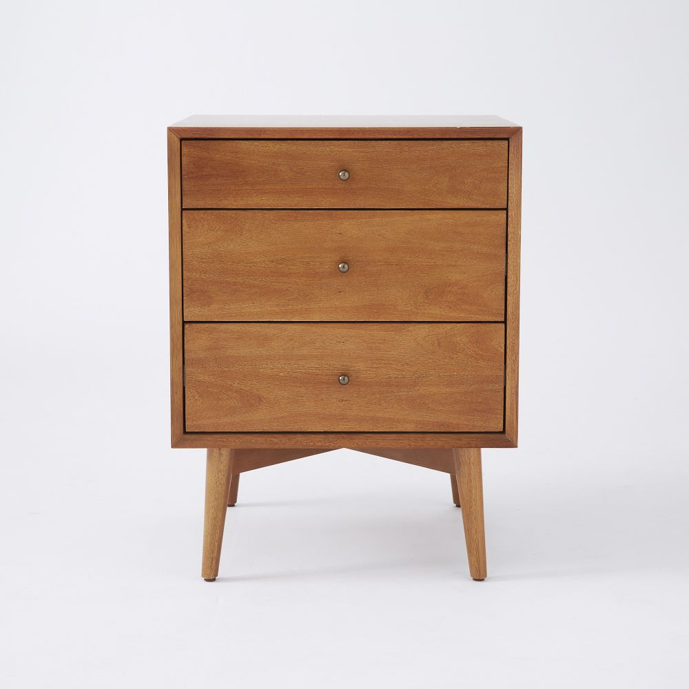 Mid Century 3-Drawer Side Tables - Acorn