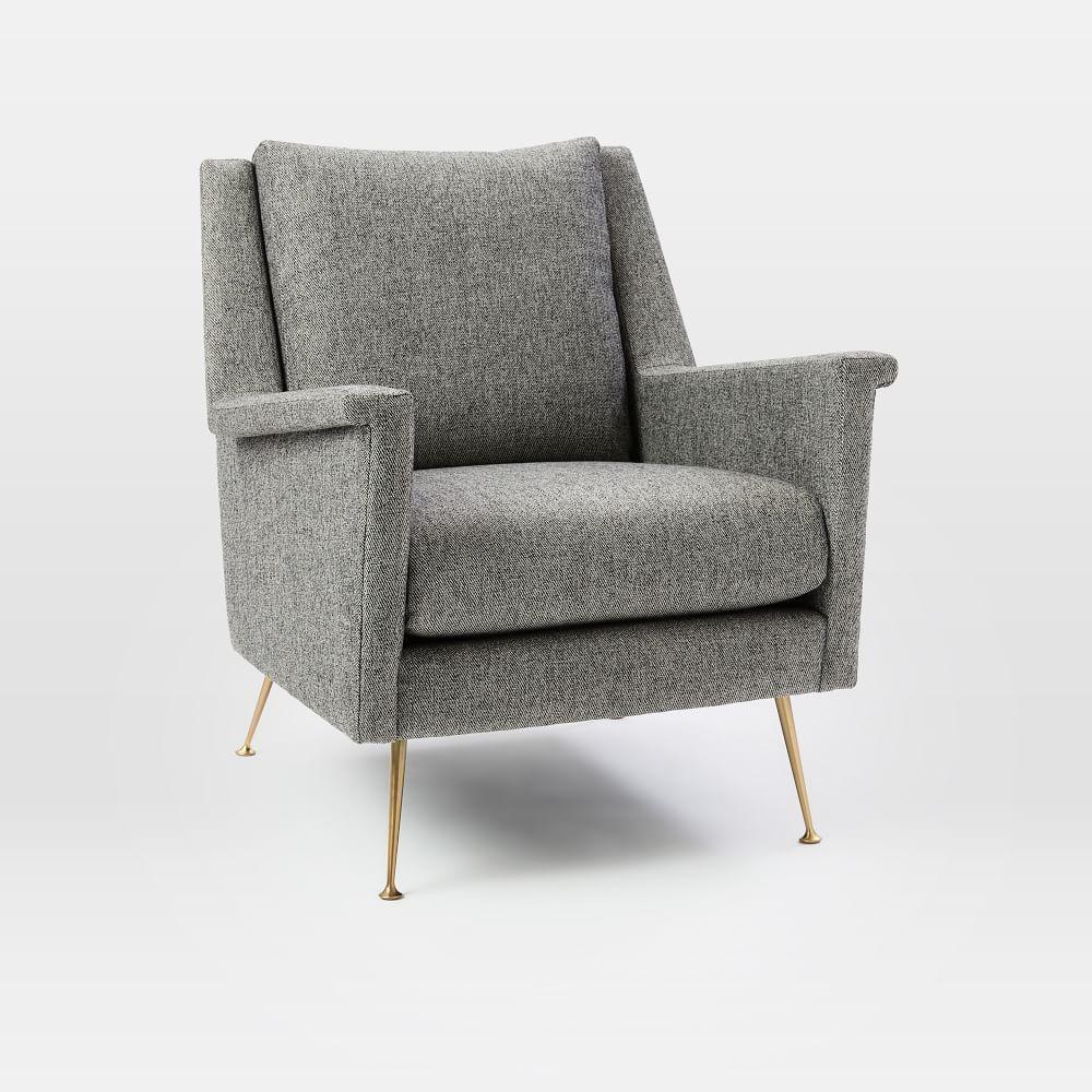 Carlo Mid Century Chair Granite West Elm Uk