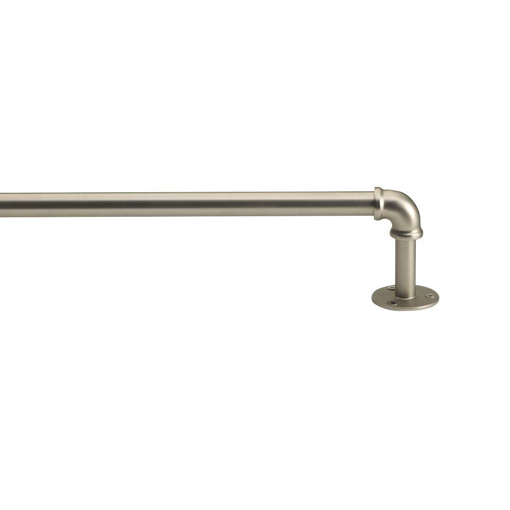 Industrial Pipe Adjustable Rod - Brushed Nickel