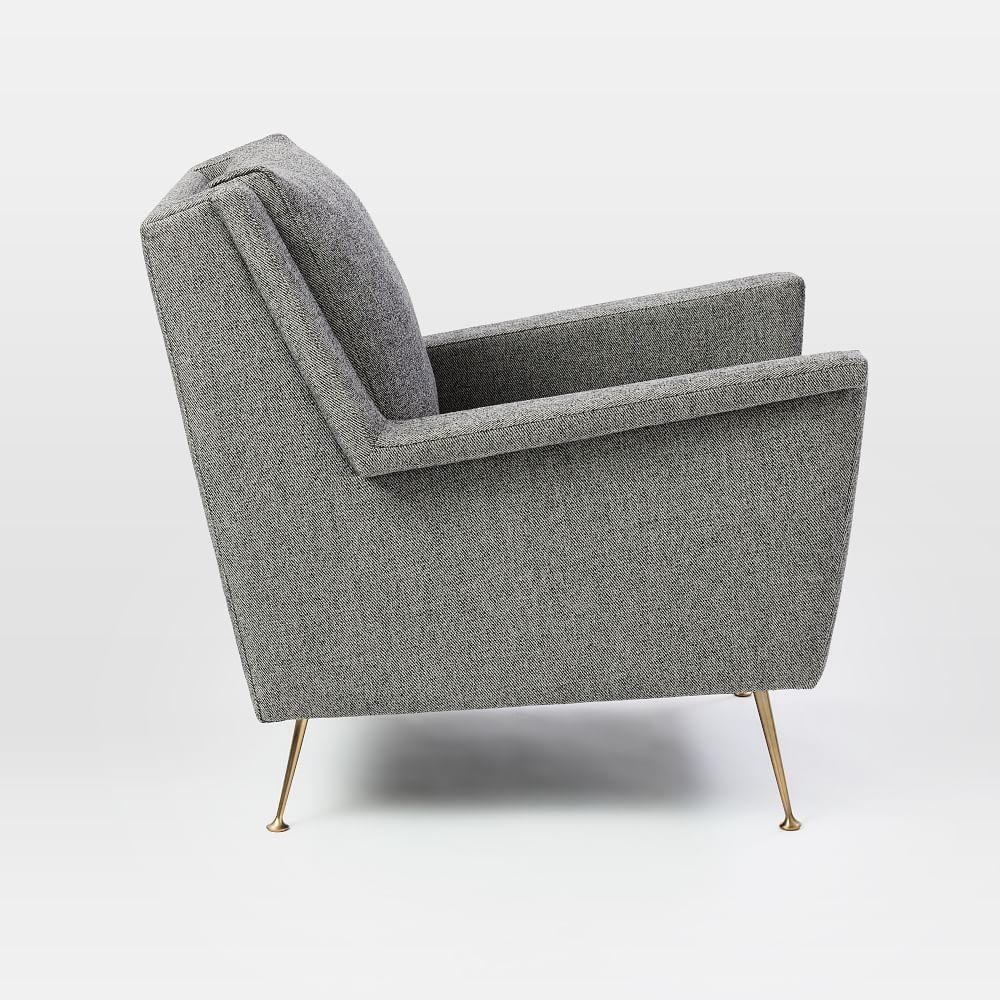 Carlo Mid-Century Chair - Granite