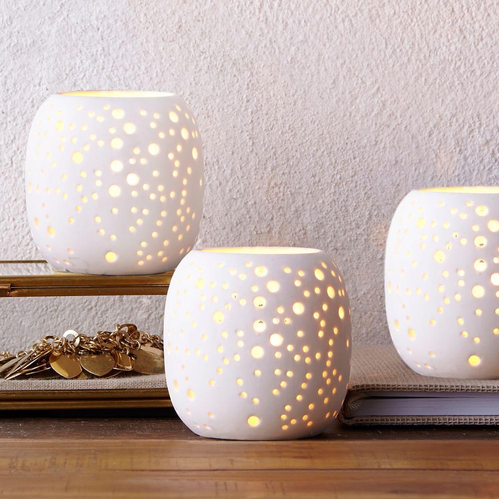 Pierced Porcelain Hurricanes Constellation West Elm Uk