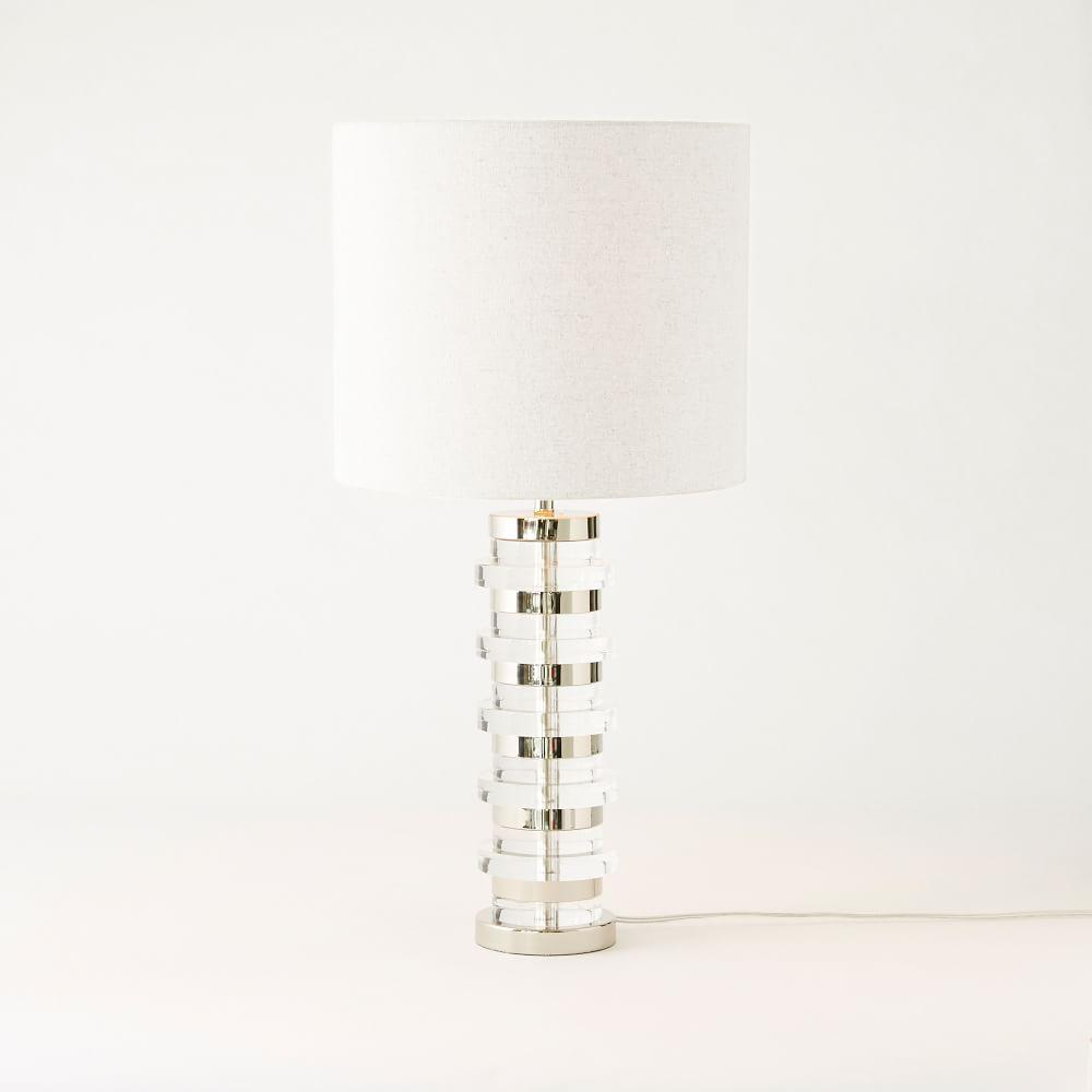 Clear disc table lamp large west elm uk clear disc table lamp large aloadofball Gallery