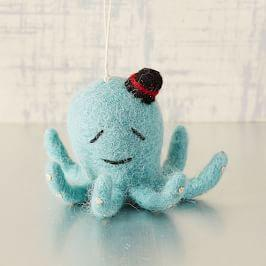 Felt Octopus Ornament West Elm Uk