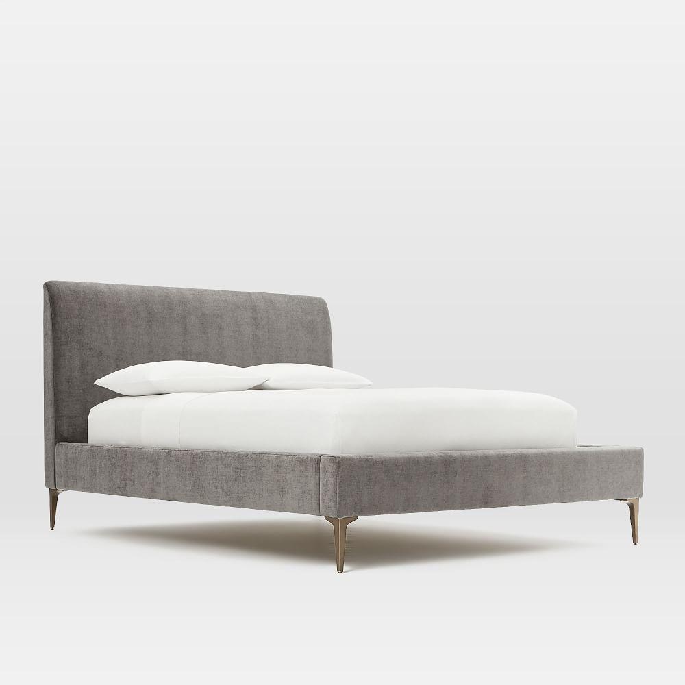Andes Deco Upholstered Bed | west elm UK