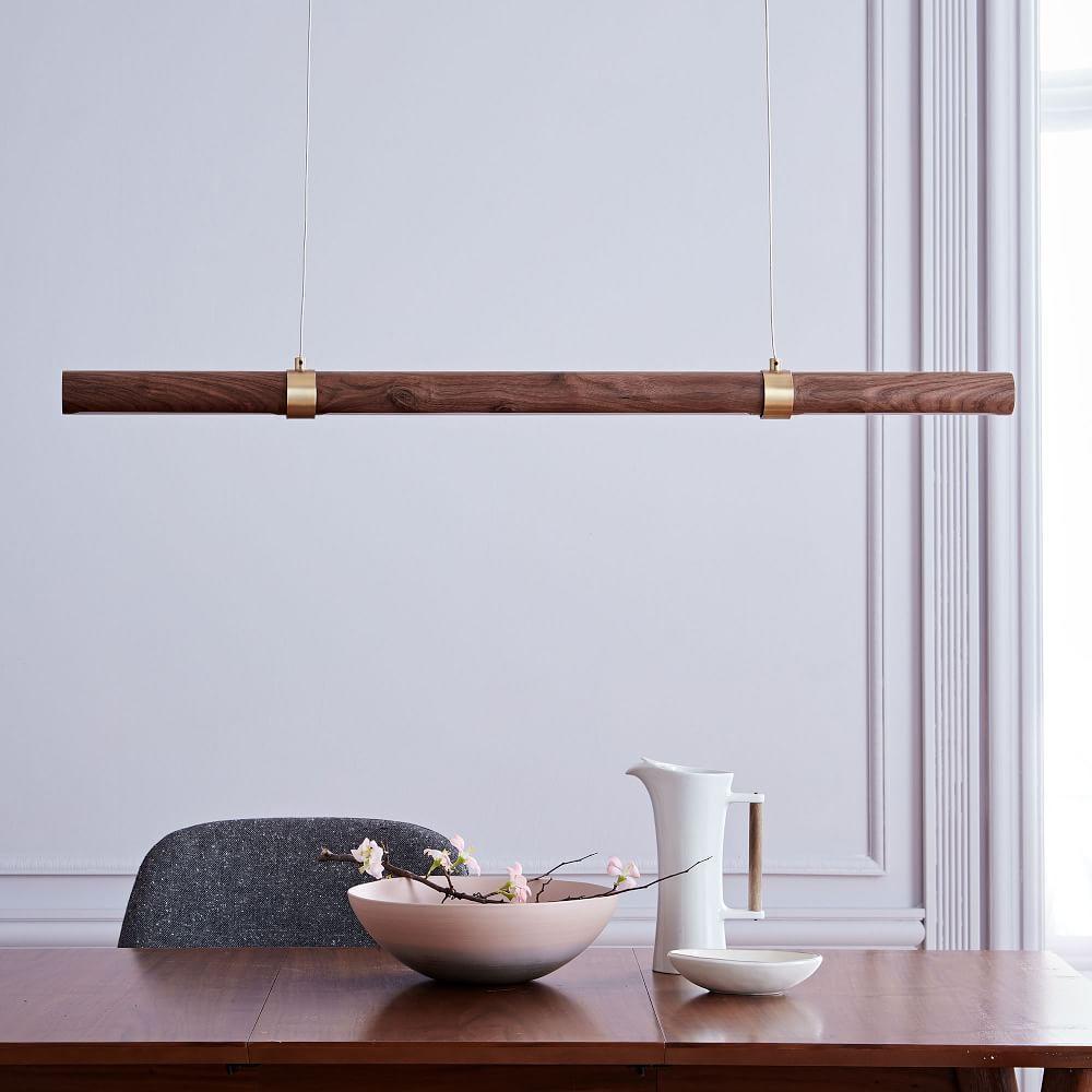 Linear Wood LED Pendant