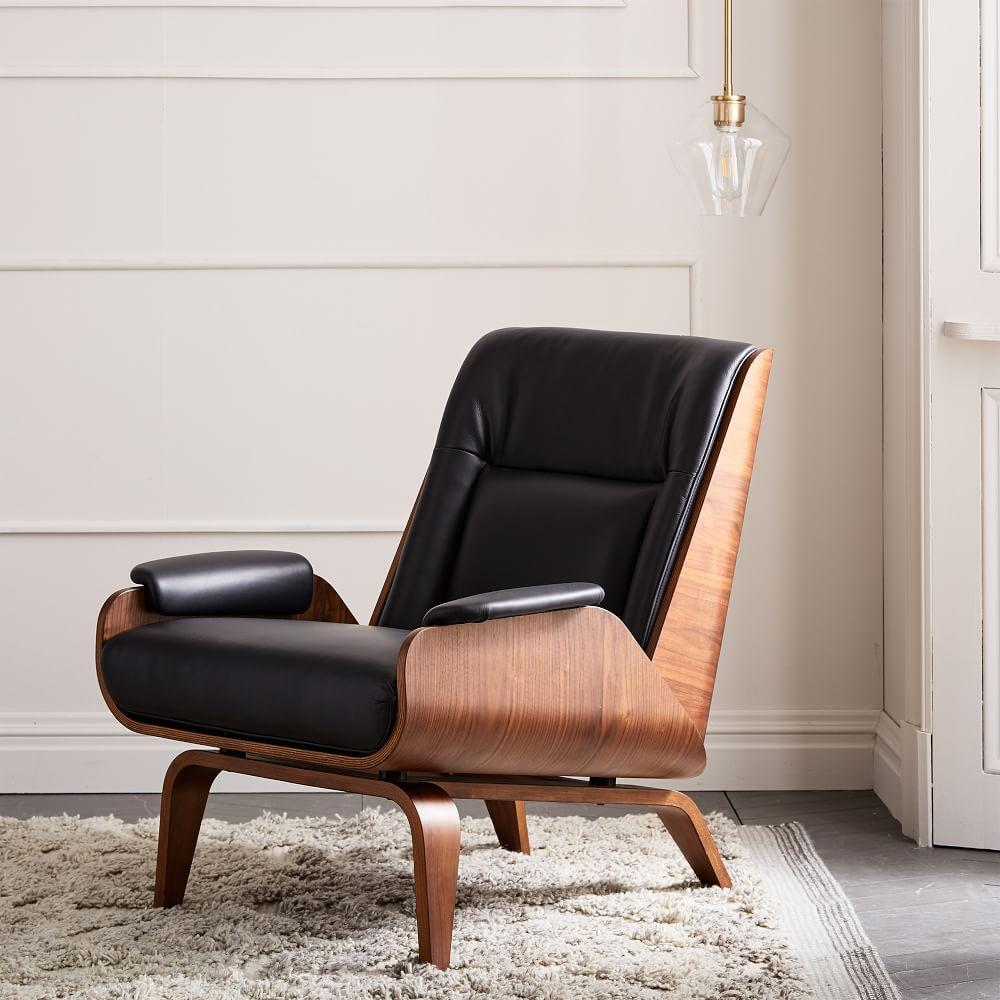 paulo bent ply leather chair west elm uk. Black Bedroom Furniture Sets. Home Design Ideas