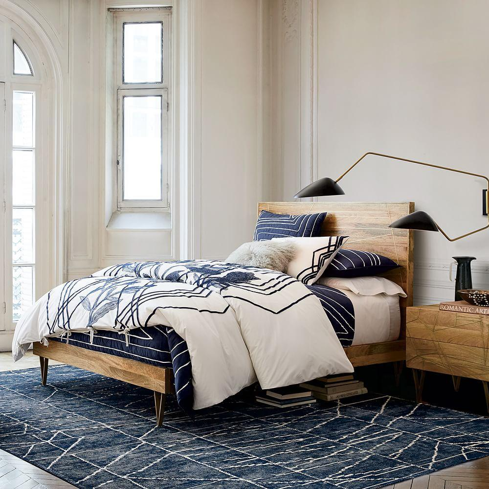 Roar + Rabbit™ Brass Geo Inlay Bed | west elm UK