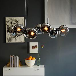 Staggered Glass Chandelier - 8-Light