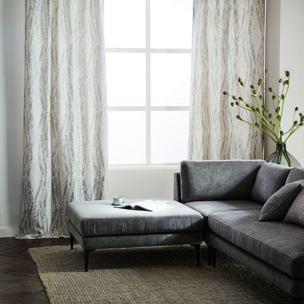 Bark Texture Jacquard Curtain - Platinum