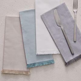 Frayed Edged Napkins (Set of 4)