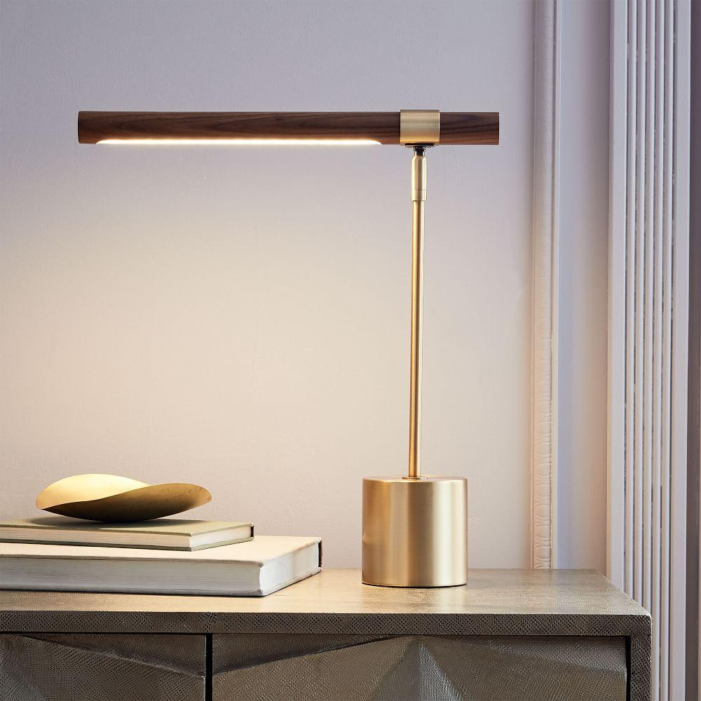 Linear Wood LED Table Lamp