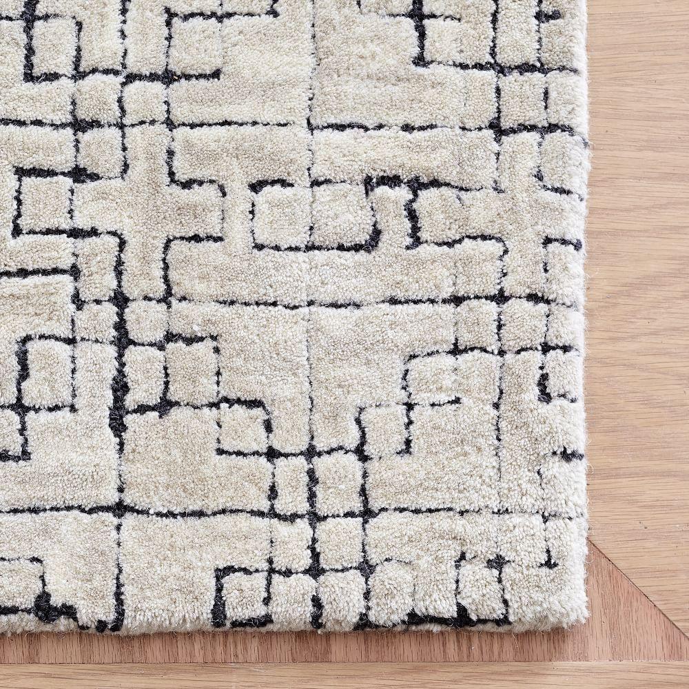Stone Tile Rug - Ivory