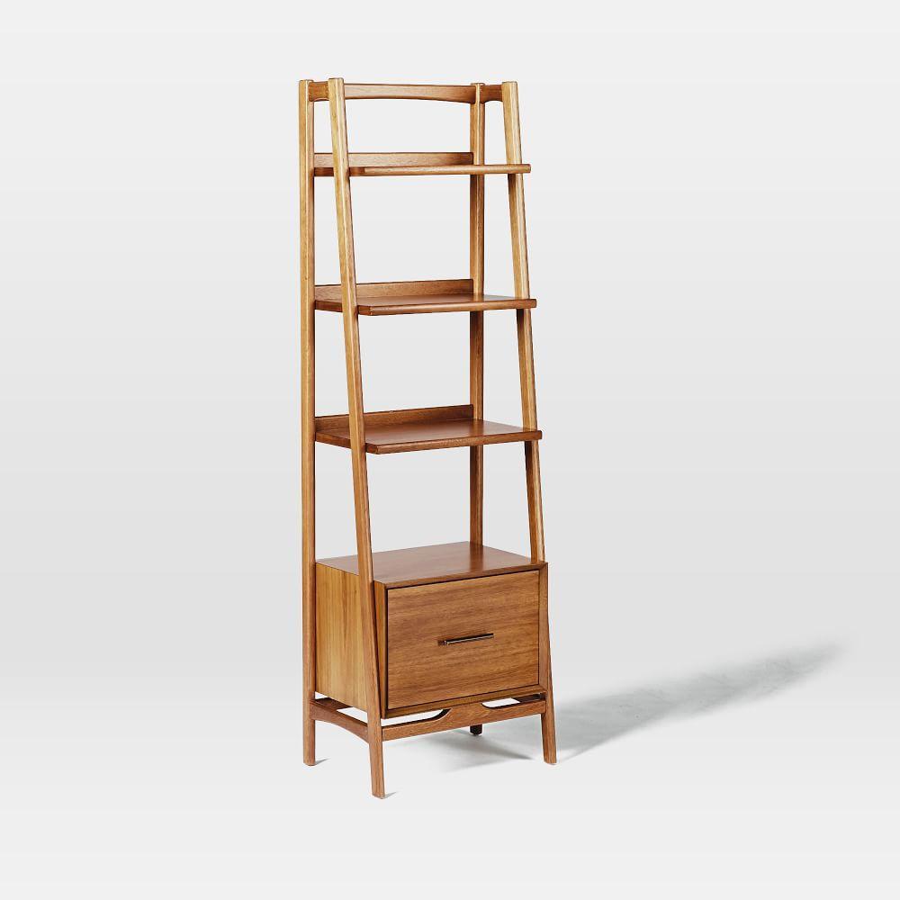 Mid Century 56 Cm Bookshelf Acorn West Elm Uk