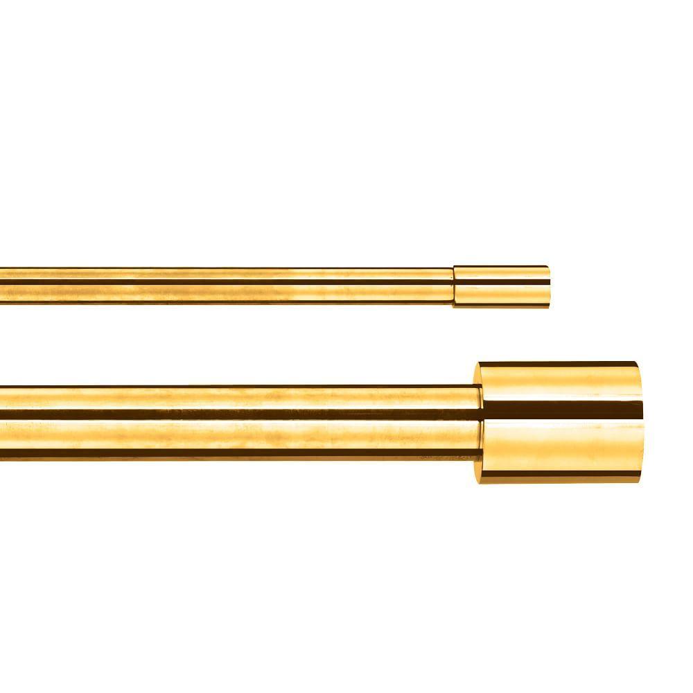 Oversized Metal Double Rod - Antique Brass