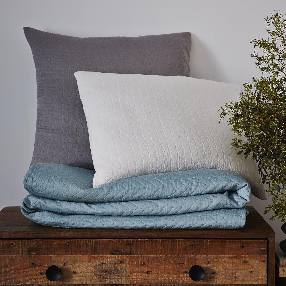 Organic Braided Matelasse Duvet Cover Pillowcases