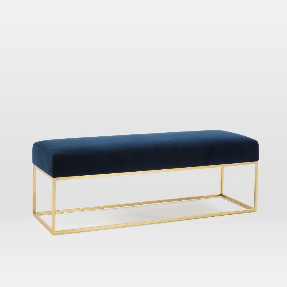 Box Frame Upholstered Bench   west elm UK