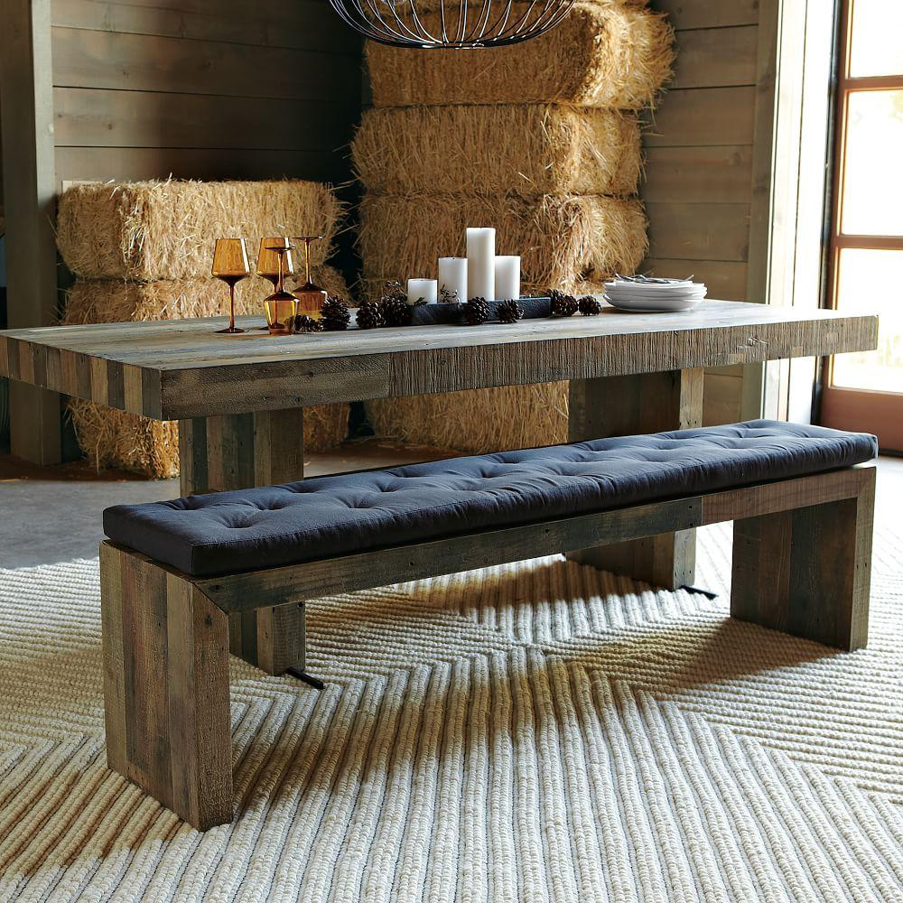 bench imports shop pier natural cushion dining