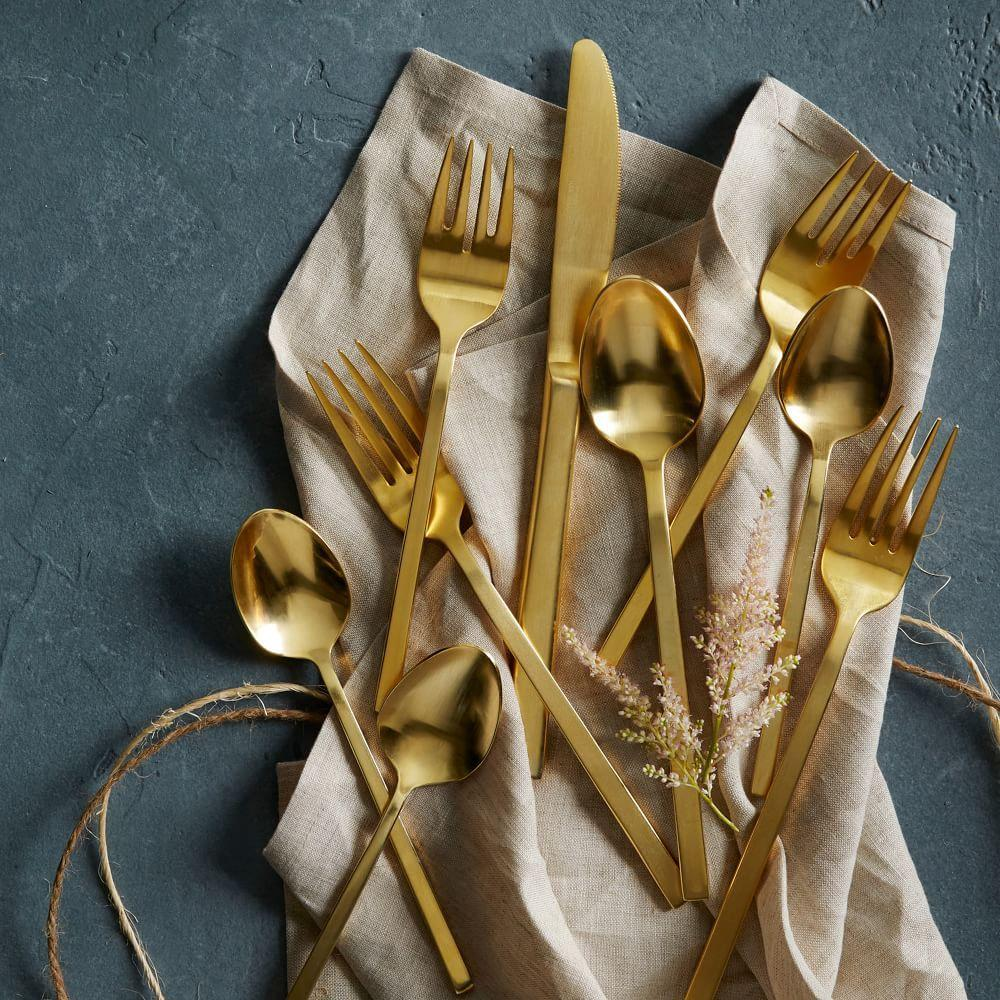 Gold Cutlery 5-pc. Place Setting