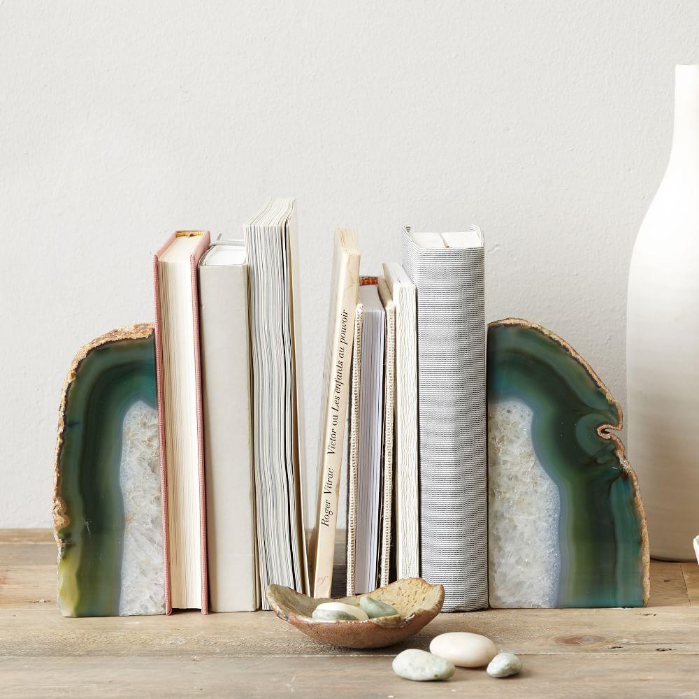 agate bookends west elm uk. Black Bedroom Furniture Sets. Home Design Ideas