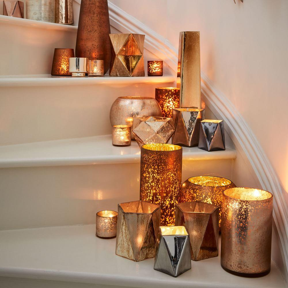 Crosshatch textured mercury vases candleholders west elm uk crosshatch textured mercury vases candleholders reviewsmspy