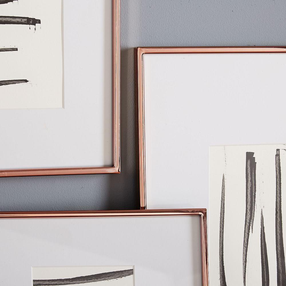 gallery frames polished rose gold west elm uk. Black Bedroom Furniture Sets. Home Design Ideas