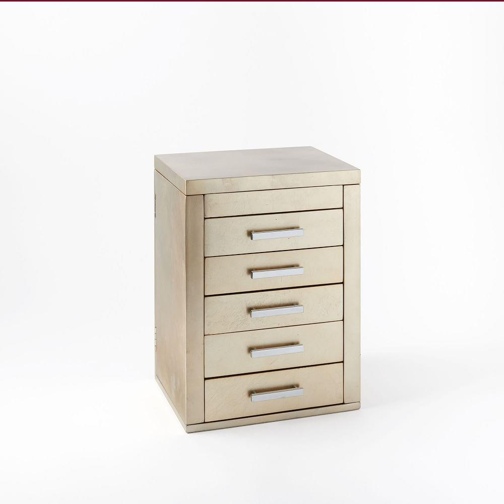 Mid-Century Box, Vertical (Champagne Lacquer)