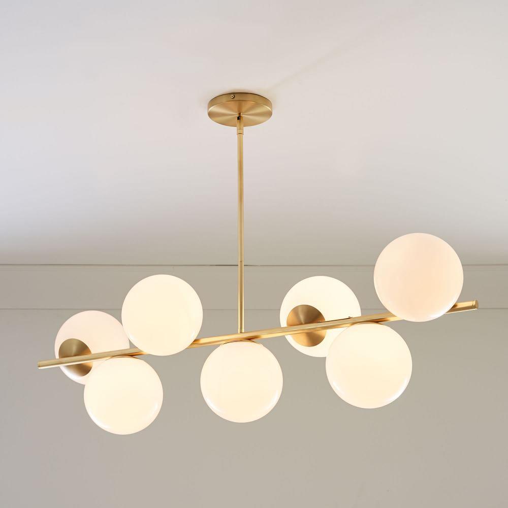 West Elm Lighting Sale: Sphere + Stem 7-Light Chandelier - Brass
