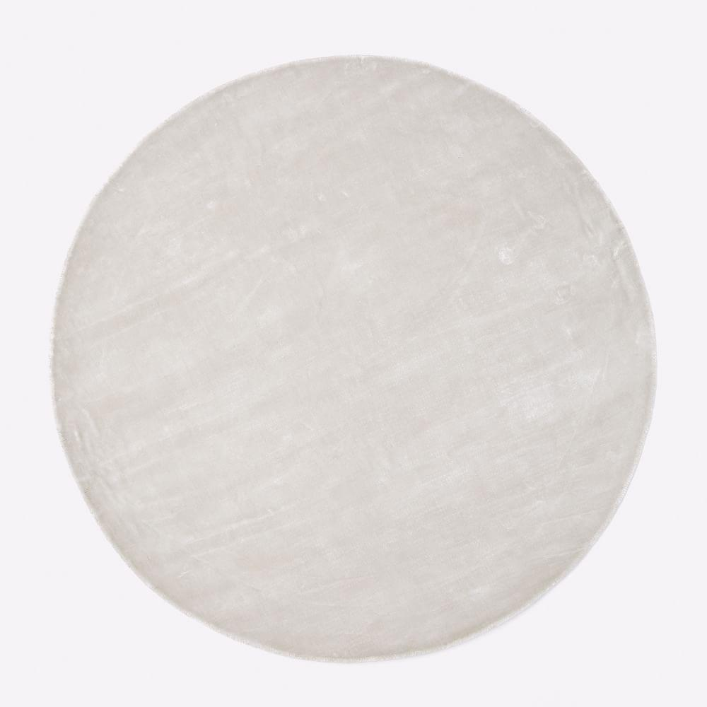 Lucent Round Rug - Frost Grey