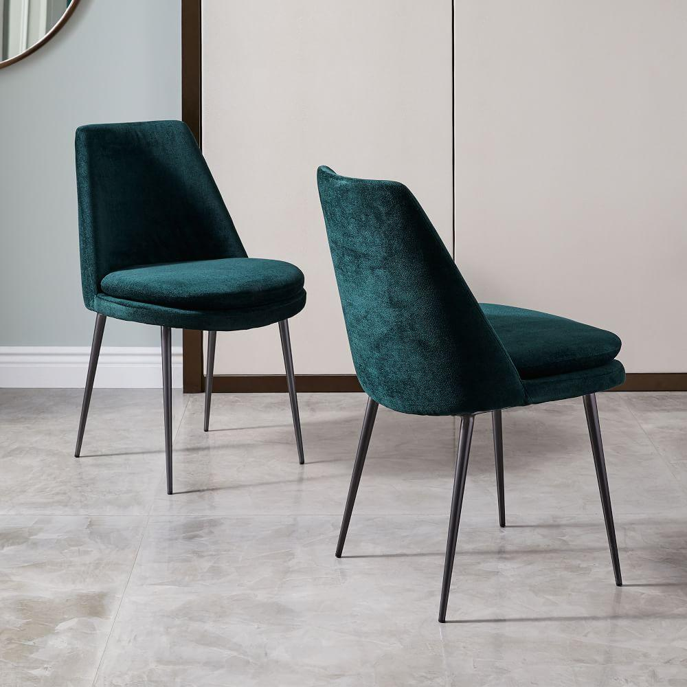 finley lowback velvet dining chair . finley lowback velvet dining chair  west elm uk