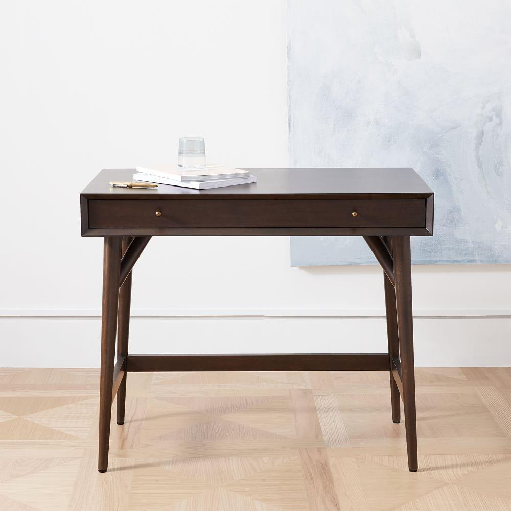 Mid-Century Mini Desk, Dark Mineral