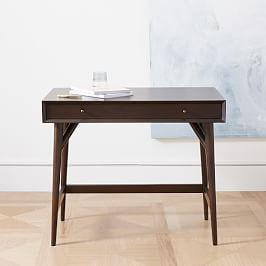 Mid-Century Mini Desk, Dark Mineral
