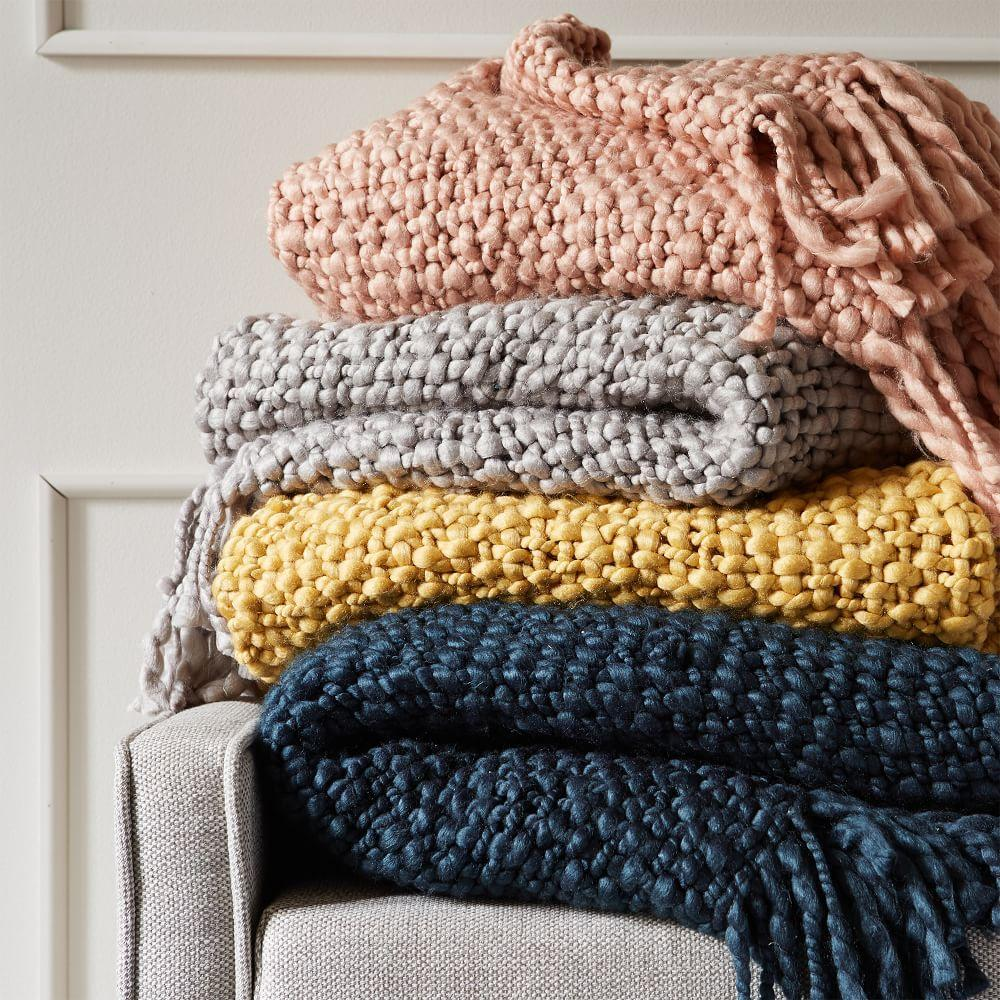 Solid Basketweave Throw West Elm Uk