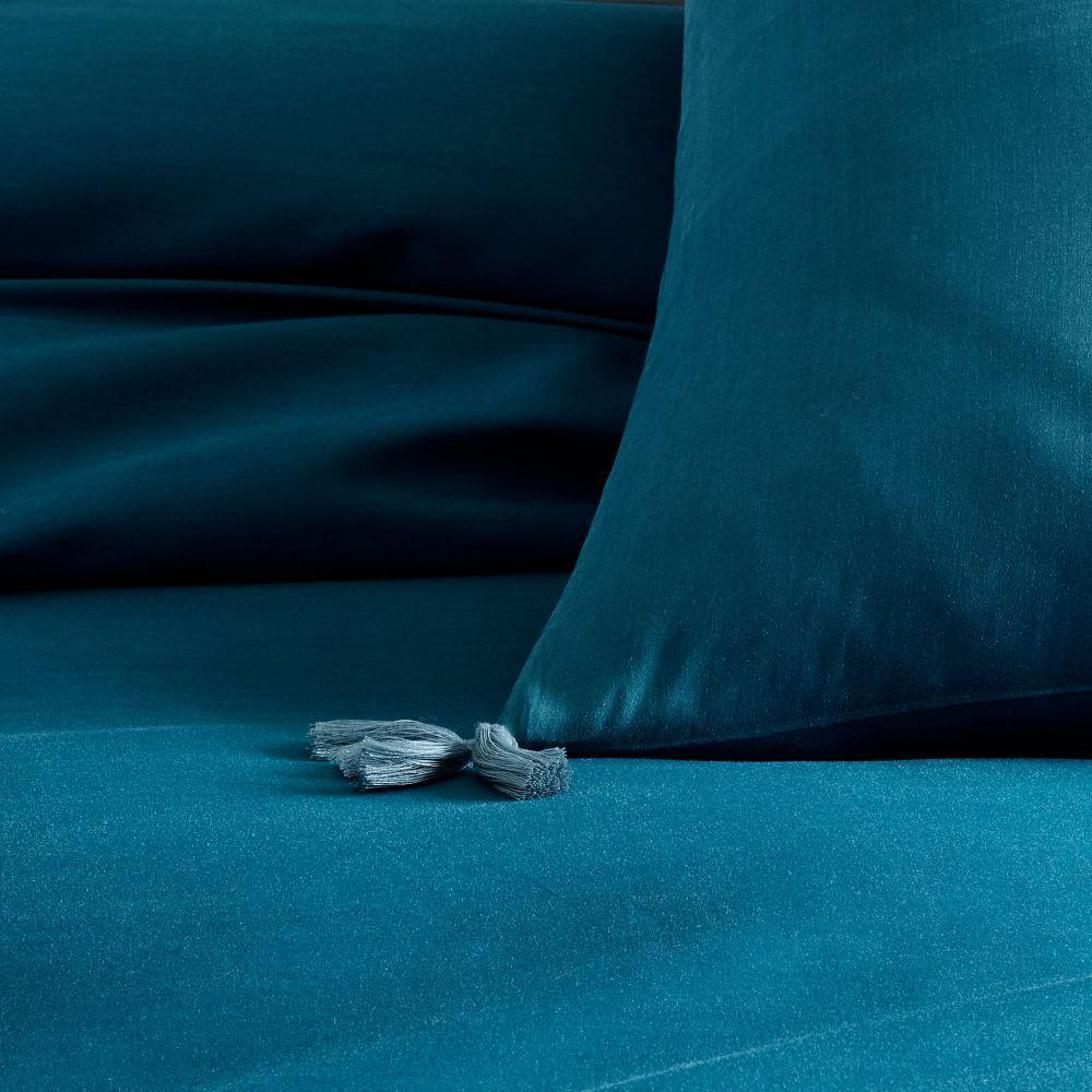 TENCEL™ Duvet Cover + Pillowcases - Blue Teal