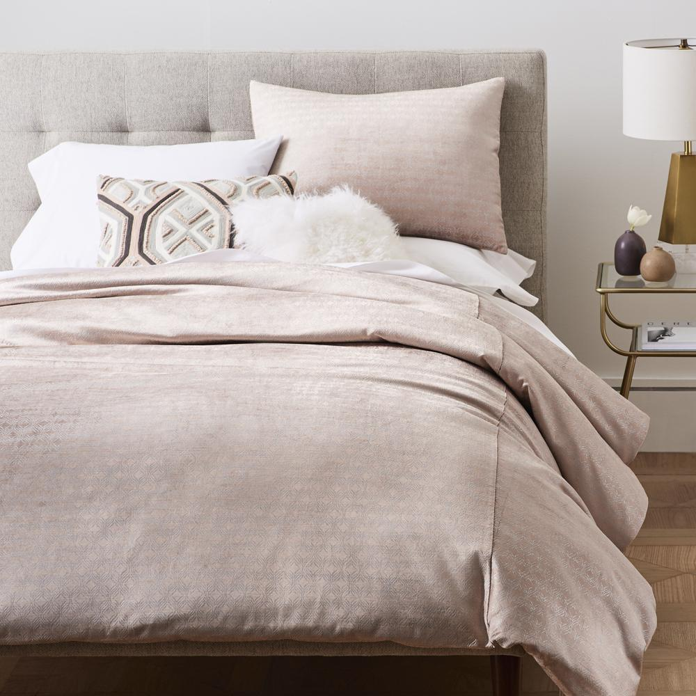 Lustre Velvet Metallic Ogee Duvet Cover Pillowcases