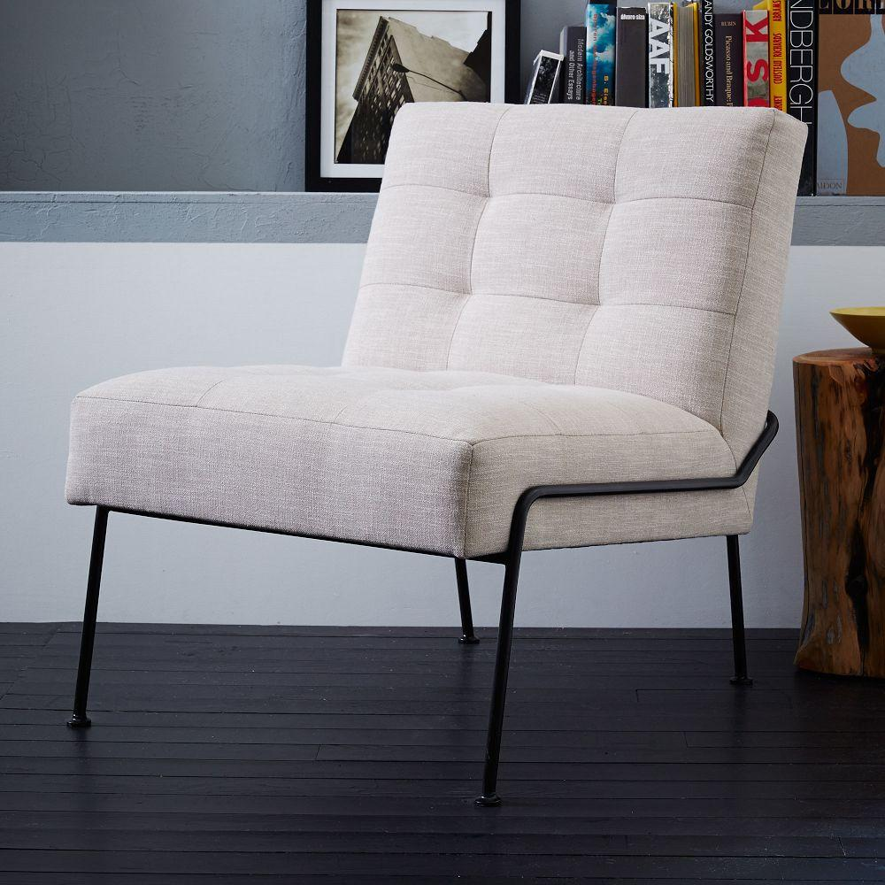 West Elm Chairs: Oswald Tufted Slipper Chair
