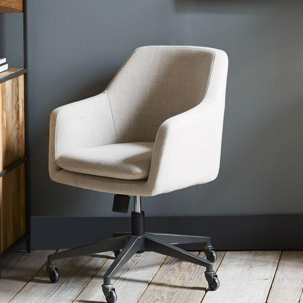Helvetica Upholstered Office Chair | west elm UK