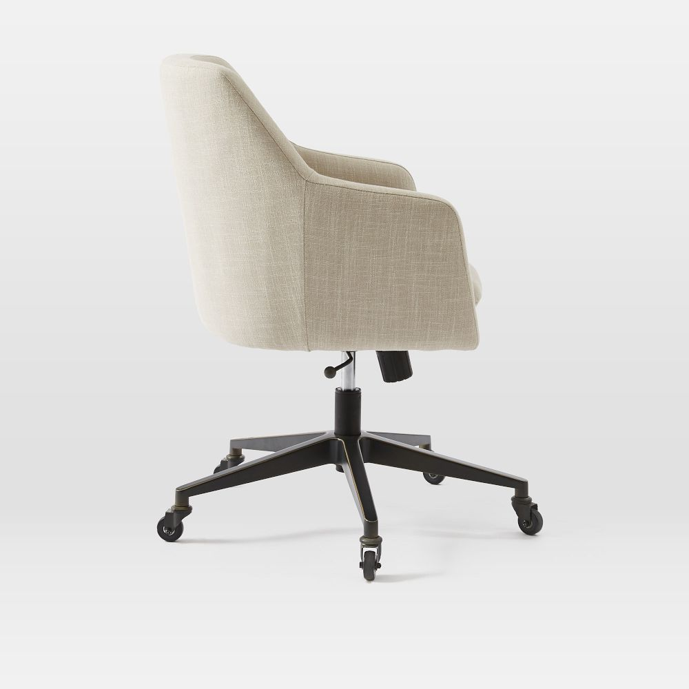 Helvetica Upholstered Office Chair West Elm Uk